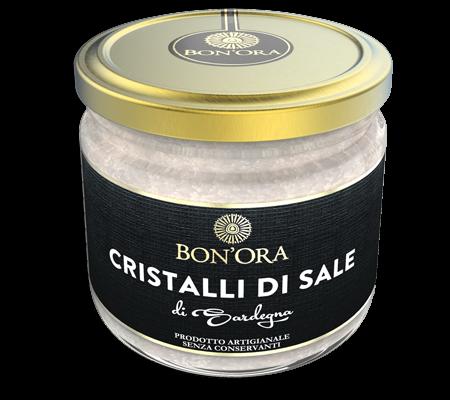 Cristalli di Sale marino integrale Bon'Ora Prodotti di Sardegna PORTFOLIO