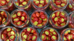 Peperoncini con crema di ceci in olio di oliva Bon'Ora Prodotti di Sardegna