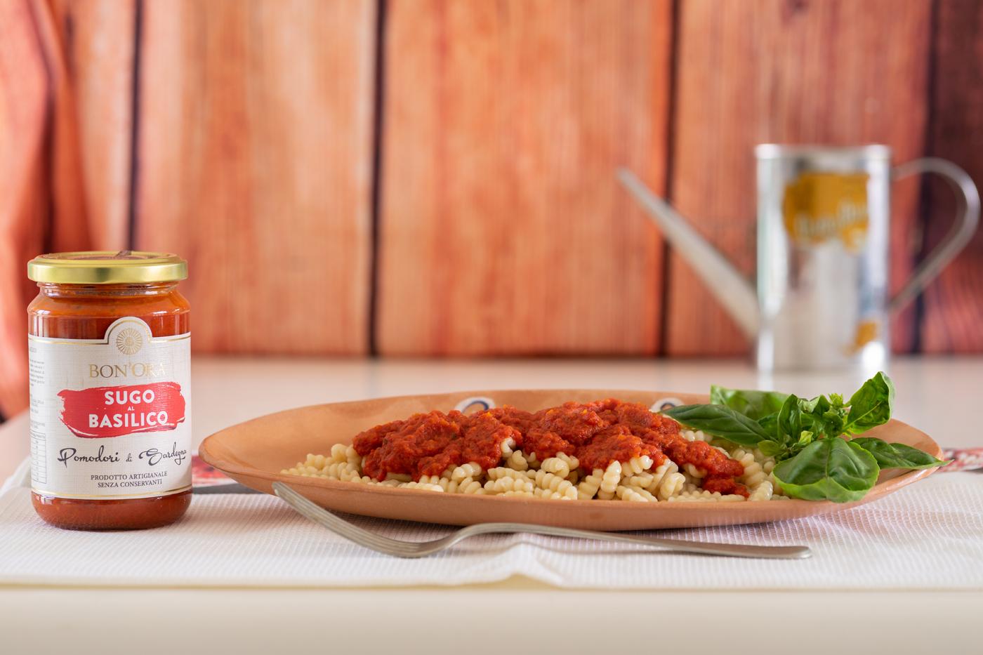 piatto di malloreddus con sugo al basilico Bon'Ora Prodotti di Sardegna